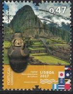 Portugal 2017 Oblitéré Used Lisbonne Capitale Ibero Américaine Culture Machu Picchu Vase SU - 1910-... Republic