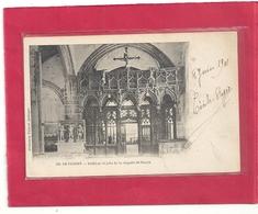 520. LE FAOUET . INTERIEUR ET JUBE DE LA CHAPELLE St-FIACRE . DOS NON DIV AFFR AU VERSO LE 8 JUIN 1901 . 2 SCANES - Le Faouet