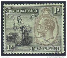 868 Trinite Tobago George V 1 Shilling (TOB-42) - Trinidad & Tobago (1962-...)