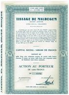 Ancien Titre - Tissage De Maldegem - Société Anonyme - Titre De1950 - N° 0784 - Textile