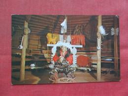 Cherokee Council House Oconaluftee Indian Village  NC     Ref 3386 - Native Americans