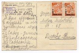1951 YUGOSLAVIA, SLOVENIA, KRANJSKA GORA TO RATECE-PLANICA, ILLUSTRATED POSTCARD,  USED - Yugoslavia