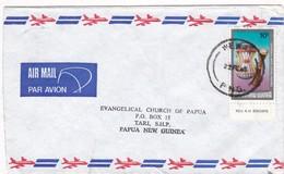 2005 AIRMAIL CIRCULEE PAPUA NEW GUINEA TIMBRE CEREMONIAL SHELD CENTRAL PROVINCE - BLEUP - Papúa Nueva Guinea