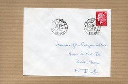 LSC 1969 - Cachet Poste Aux Armées Et Au Dos Cachet SECTEUR POSTAL  88.841/K  - (Oasis Algérie) - Cachets Militaires A Partir De 1900 (hors Guerres)