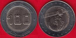 """Algeria 100 Dinars 2019 """"Satellite"""" BiMetallic UNC - Algeria"""