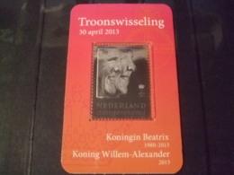 Netherlands  Sheet 2013  Silverstamp Queen And King - 1980-... (Beatrix)