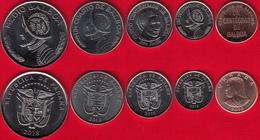 Panama Set Of 5 Coins: 1 Centesimo - 1/2 Balboa 2018 UNC - Panama