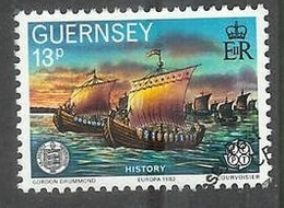 1982 La Societe Guernesiaise, 13p, Used - Guernsey