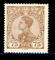 ! ! Portugal - 1910 D. Manuel 75 R - Af. 163 - MH - 1910 : D.Manuel II