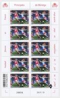 H01 Monaco 2019 Women's Football Sheetlets - Neufs