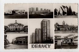 DRANCY - 93 - Seine Saint Denis - Gymnase, Gratte Ciel, Nouvelle Eglise, Mairie, Ancienne Eglise, Poste, Ecoles - Drancy