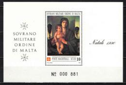 SMOM - 1990 - LA MADONNA DEGLI ALBERELLI DI GIOVANNI BELLINI - SOUVENIR SHEET -  MNH - Sovrano Militare Ordine Di Malta