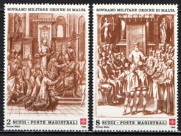 SMOM - 1990 - VESTIZIONE DI UN CAVALIERE DI MALTA - MNH - Sovrano Militare Ordine Di Malta