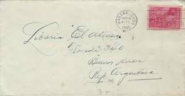 1940 ENVELOPPE CIRCULEE HABANNA TO BUENOS AIRES BANDELETA PARLANTE - BLEUP - Cartas