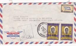 1974 AIRMAIL CIRCULEE HONDURAS TO ARGENTINE STAMP A PAIR SURTAXE NOIR AUTRES MARQUES - BLEUP - Honduras