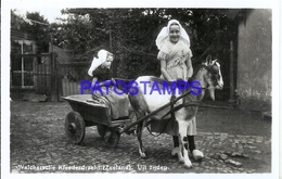 113201 NETHERLANDS ZEELAND HOLLAND COSTUMES GIRL'S CART A GOAT POSTAL POSTCARD - Netherlands