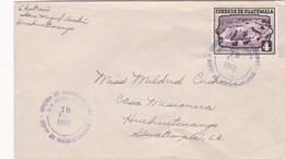 1952 ENVELOPPE CIRCULEE GUATEMALA - BLEUP - Guatemala