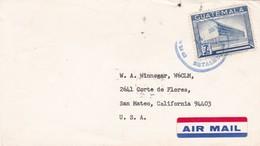 1966 ENVELOPPE CIRCULEE GUATEMALA TO USA AIR MAIL - BLEUP - Guatemala