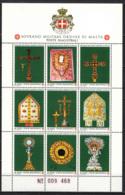 SMOM - 1991 - ARREDI SACRI DELL'ORDINE - FOGLIETTO - SOUVENIR SHEET - MNH - Sovrano Militare Ordine Di Malta