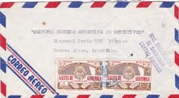 1972 AIRMAIL CIRCULEE GUATEMALA TO ARGENTINE, MAL ENCAMINADA EL SALVADOR - BLEUP - Guatemala