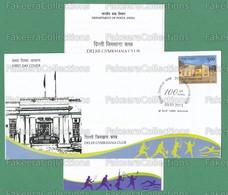 INDIA 2013 Inde Indien - Delhi Gymkhana Club 1v FDC + Brochure MNH ** - Sports, Tennis, Squash, Swimming, Gym, Golf Club - Stamps