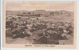 ASMARA TRIPOLI LIBIA PANORAMA DEL PAESE INDIGENO F/P VIAGGIATA 1935 - Libia