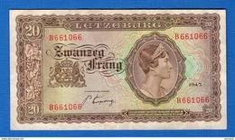 20  Fr  Du  1943 Ttb - Luxembourg