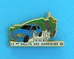 1 PIN'S  //  ** 13 ème  RALLYE DES GARRIGUES '92 / 15.03.92 ** . (G.J.P  C.R.T Arthus Bertrand Paris) - Rallye