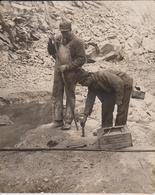 LIMESTONE LIME INDUSTRY PREPARING TO BLAST ATLAS POWDER MINE MINA  MINERÍA 25*20CM Fonds Victor FORBIN 1864-1947 - Profesiones
