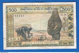 Cote  D'ivoire  500  Fr - Costa D'Avorio