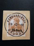OC 30 Sur Fragment. Oblitération Kommandantur Brugge - [OC26/37] Terr. Etapes