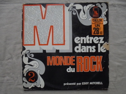 Disque Vinyle Double 33 T - Entrez Dans Le Monde Du Rock Par Eddy Mitchell - Rock