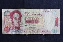 25 / Banco Central De La Venezuela - 1000 - Mil Bolivares - ( Aout ) Agosto . 6 . 1998  / N° Q 150137246 - Venezuela