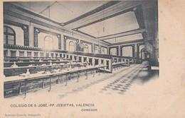 VALENCIA. COLEGIO DE S. JOSE PP JESUITAS. COMEDOR. ANTONIO GARCIA FOTO. HAUSER Y MENET. CPA CIRCA 1910s - BLEUP - Valencia