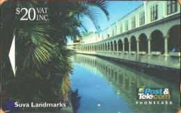 Fiji - GPT, FIJ-062, CN 11FJE, Suva Landmarks, Mh Building. 20$, 10,000ex, 1995, Used - Fiji