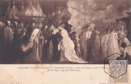 CALIARI, CARLO DIT CARLETTO. CATHERINE CORNARO, REINE DE CHYPRE, REÇUE... LL. OBLITEREE PAQUEBOT STEAMER 1910 - BLEUP - Peintures & Tableaux