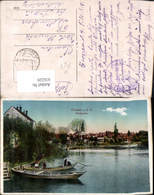 616220,Krosno Odrzanskie Crossen A. D. Oder Stadtgraben Ruderboot Boot Poland Feldpos - Polen