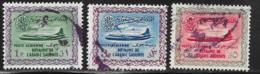 Saudi Arabia Scott # C7,C9,C11 Used Convair, 1960-1 - Saudi Arabia