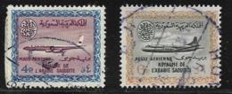 Saudi Arabia Scott # C26-7 Used Convair, 1963 - Saudi Arabia