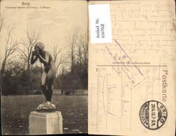 616702,Brzeg Brieg Trinkendes Mädchen Bronzefigur I. D. Anlagen Poland - Pologne