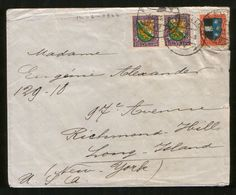 Switzerland 1926 Cover Stamps Pro Juventute, Coats Of Arms Thurgau, Aargau, Lion - Pro Juventute