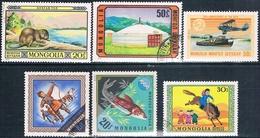 Mongolia 1974  -  Michel  846 + 859 + 864 + 881 + 888 + 902  ( Usados ) - Mongolia