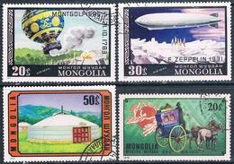 Mongolia 1974 / 76  -  Michel  881 + 910 + 1118 + 1119  ( Usados ) - Mongolia