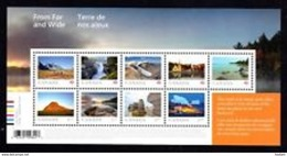 Canada 2019, From And Wide Souvenir Sheet  9 Stamps  MNH  See Description  Below - Blocks & Sheetlets