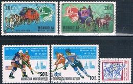 Mongolia 1974 / 79  -  Michel  909 + 910 + 1180 + 1215 + 1217  ( Usados ) - Mongolia