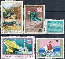Mongolia 1975  -  Michel  918 + 935 + 968 + 977 + 984  ( Usados ) - Mongolia