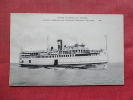 Steamer Naushon New Bedford Martha's Vineyard & Nantucket Steamship Line Mass.   Ref 3387 - Nantucket
