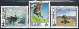 Mongolia 1976  -  Michel  1011 + 1012 + 1016  ( Usados ) - Mongolia
