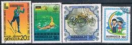 Mongolia 1976 / 80  -  Michel  1025 + 1271 + 1328 + 1349  ( Usados ) - Mongolia