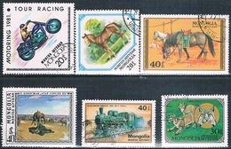 Mongolia 1976 / 82  -  Michel  1012 + 1059 + 1237 + 1246 + 1359 + 1480  ( Usados ) - Mongolia